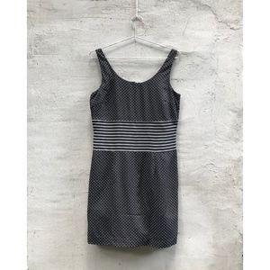 Donna Degnan Polka Dot Black and White Mini Dress